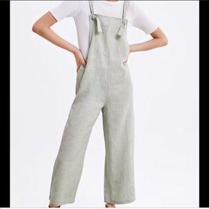 Zara linen blend jumpsuit